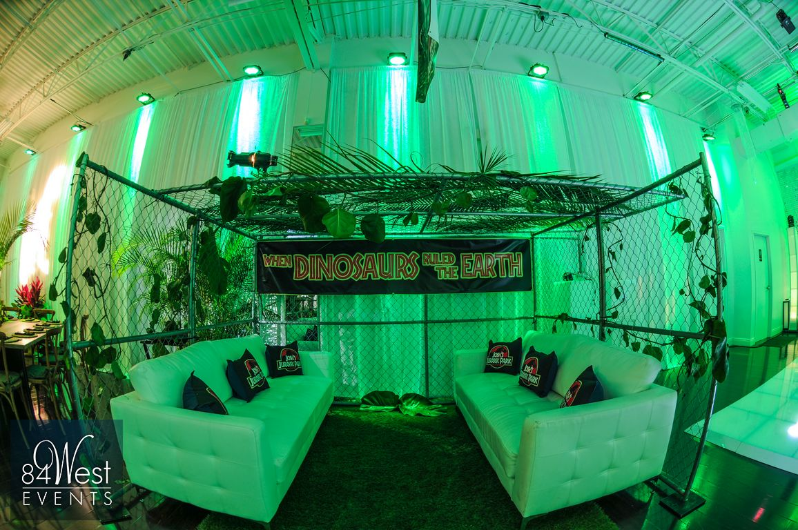 Bar mitzvah decor south florida mitzvah production by 84 west events - Jurassic_001
